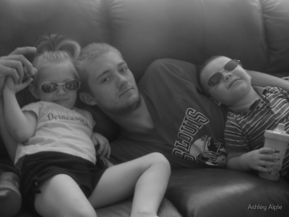 relaxing on the couch. by Ashley Aiple