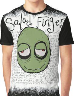 Salad Fingers FULL Artwork Graphic T-Shirt