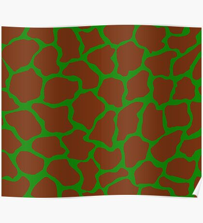 India Green in Giraffe Pattern  Poster