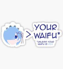 Rem > Your waifu Sticker