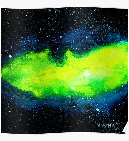 Green Nebula Galaxy Poster