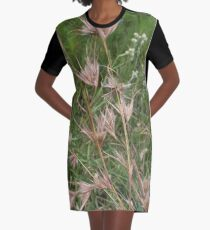 Themeda triandra (Red Grass) Graphic T-Shirt Dress