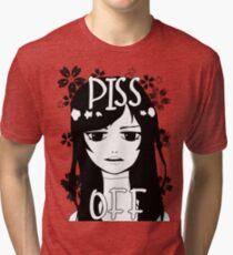PISS OFF ~ Original Design Girl Tri-blend T-Shirt