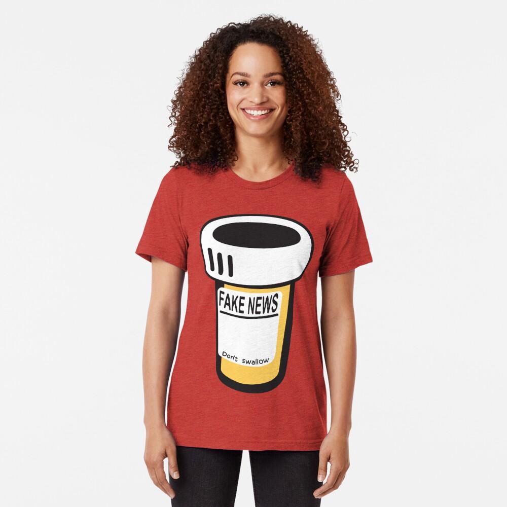 Fake news Tri-blend T-Shirt