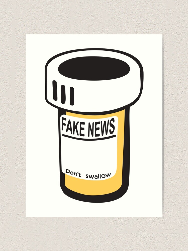 Alternate view of Fake news Art Print