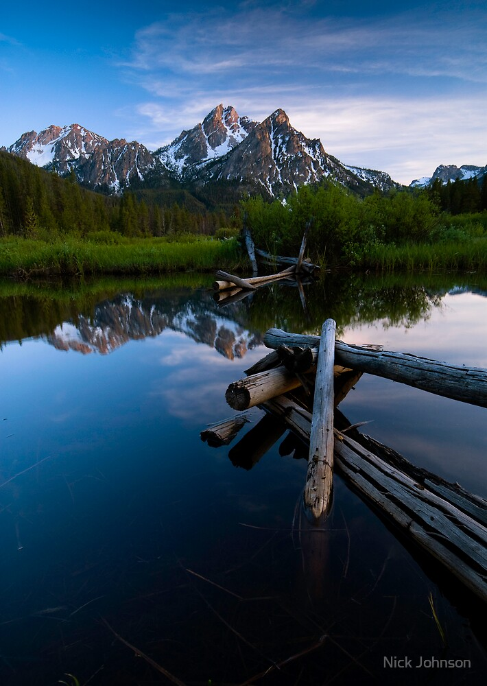 Sawtooths at Sunset by Nick Johnson