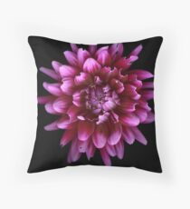 Chewed on pink Dhalia Throw Pillow