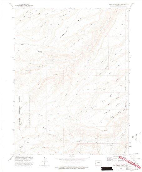 USGS TOPO Map Colorado CO Escalante Forks 450446 1973 24000 by wetdryvac