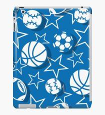 Team sports blue iPad Case/Skin