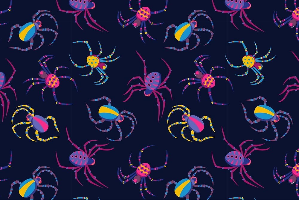 Quot Cute Spider Pattern Quot By Kimazo Redbubble