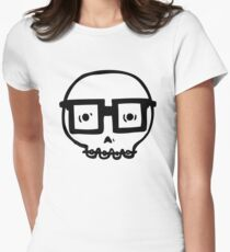 Nerd Skull Womens Fitted T-Shirt