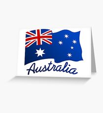 Australian continent with flag Greeting Card