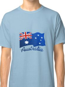Australian continent with flag Classic T-Shirt