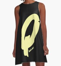 Quick-witted Alphabet Statement A-Line Dress