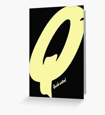 Quick-witted Alphabet Statement Greeting Card
