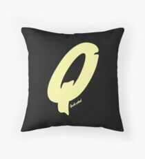 Quick-witted Alphabet Statement Throw Pillow