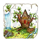 """""""Woodland Retreat"""" by Winterberry  Farm Studio"""