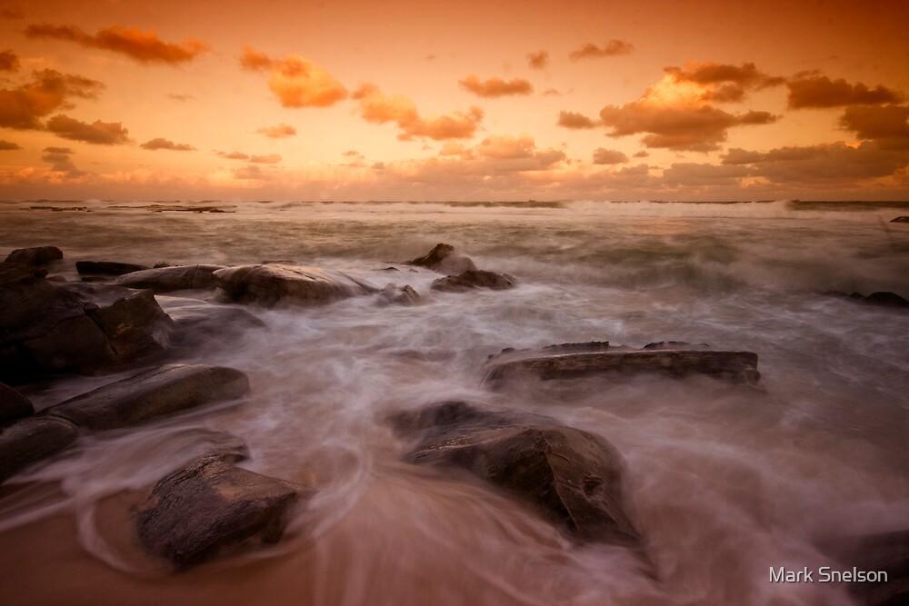 Bar Beach at Dusk 7 by Mark Snelson