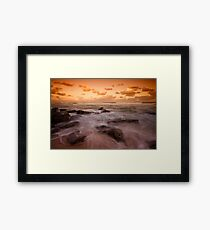 Bar Beach at Dusk 7 Framed Print