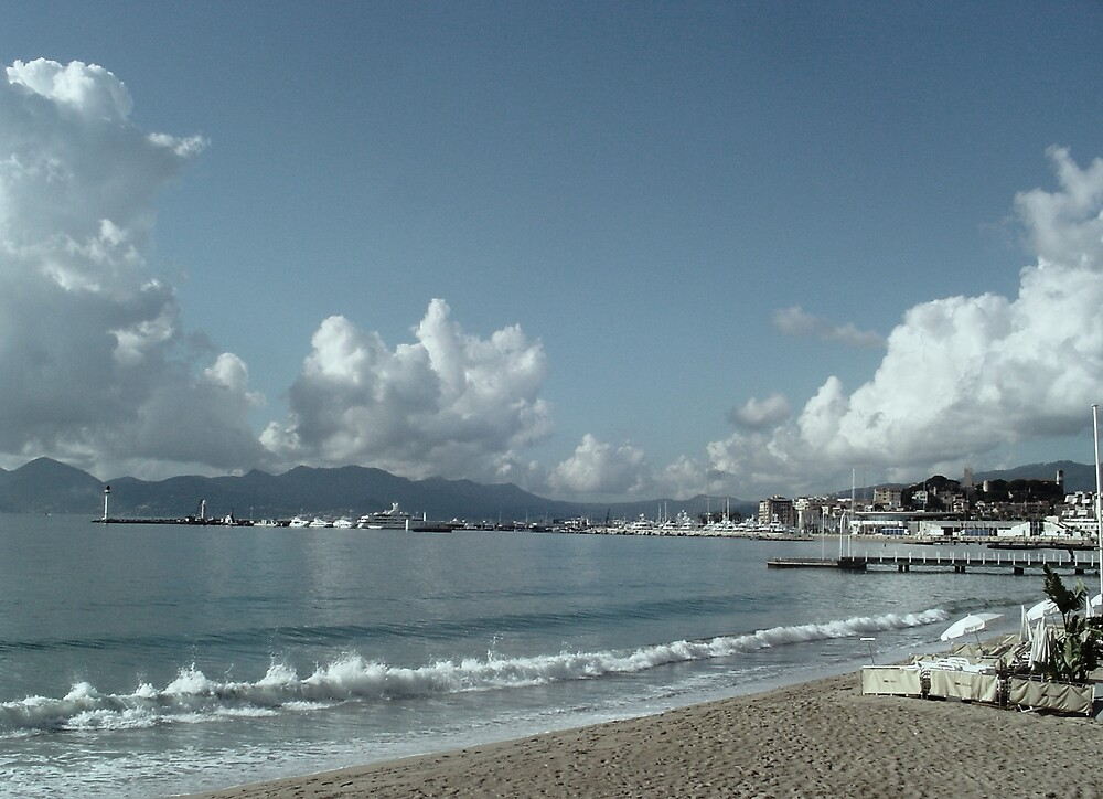 Washed out sky over Cannes by Brian Robertson