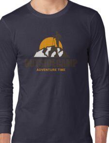 Camping Camp Outdoor Nature Mountain Green Adventure Long Sleeve T-Shirt