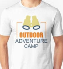 Camping Camp Outdoor Nature Mountain Green Adventure Unisex T-Shirt