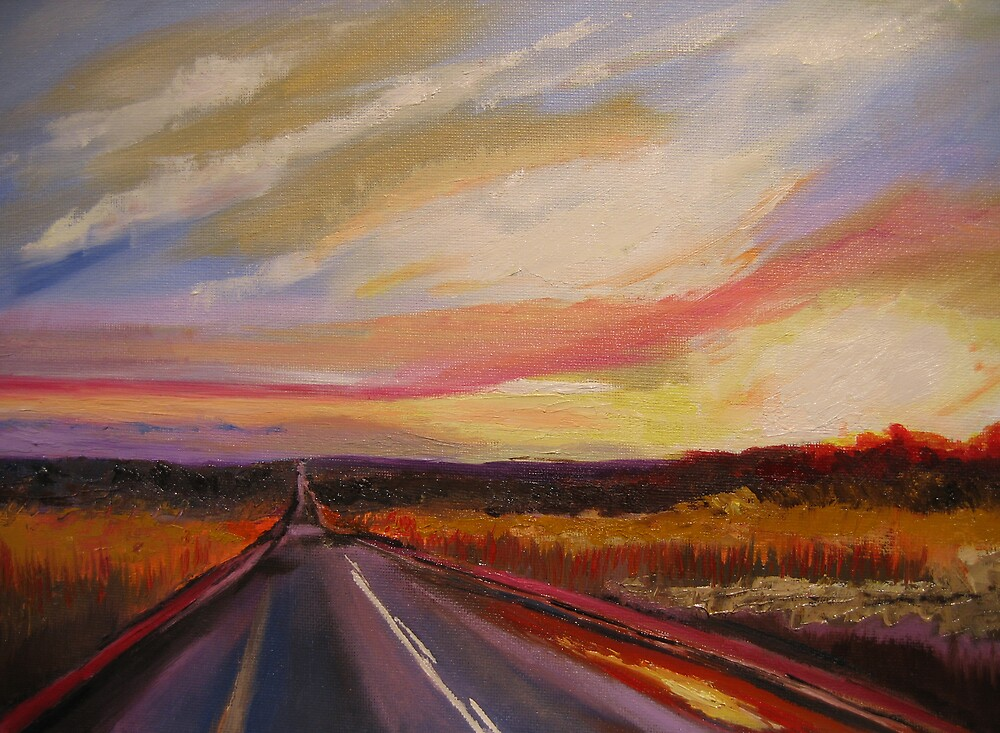 sunshine road (oil) by kenny cheng