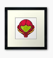 Samus Helmet - Metroid Videogame illustration Framed Print