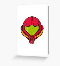 Samus Helmet - Metroid Videogame illustration Greeting Card