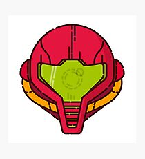Samus Helmet - Metroid Videogame illustration Photographic Print
