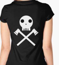 Axe Skull Women's Fitted Scoop T-Shirt