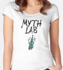 MYTH LAB  (Light background) Women's Fitted Scoop T-Shirt