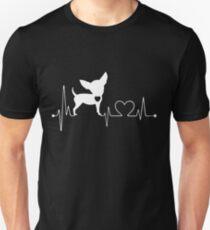 Funny Chihuahua, Chihuahua Heartbeat Unisex T-Shirt