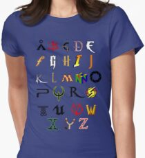 The alphabet of geekdom Women's Fitted T-Shirt