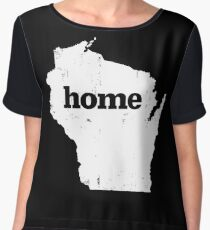 Wisconsin Home Chiffon Top
