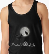 Magical Nanny Over London - neon light Tank Top