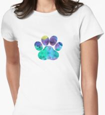 Paw print Womens Fitted T-Shirt