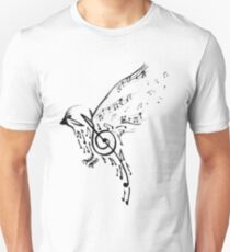 Music Scale Bird Unisex T-Shirt