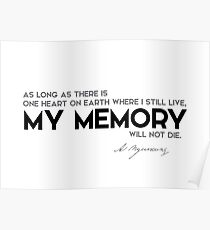 my memory will not die - alexander pushkin Poster