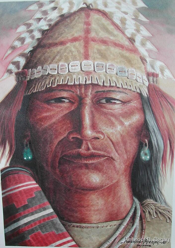 Navajo warrior by Ambrose B. Begay