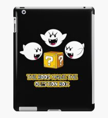 The Boos have the question box iPad Case/Skin