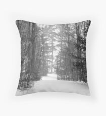 snow scene a Throw Pillow