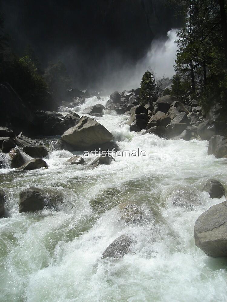 Falls at Yosemite by artistfemale