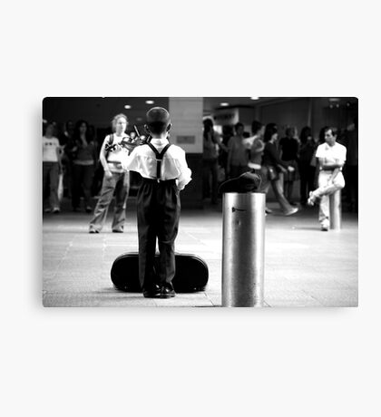 Playing for everyone and no-one Canvas Print