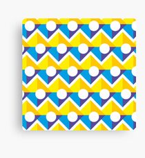 Pattern with Circle and Square Canvas Print