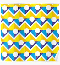 Pattern with Circle and Square Poster