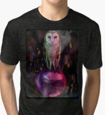 Camiseta de tejido mixto Búho laberinto
