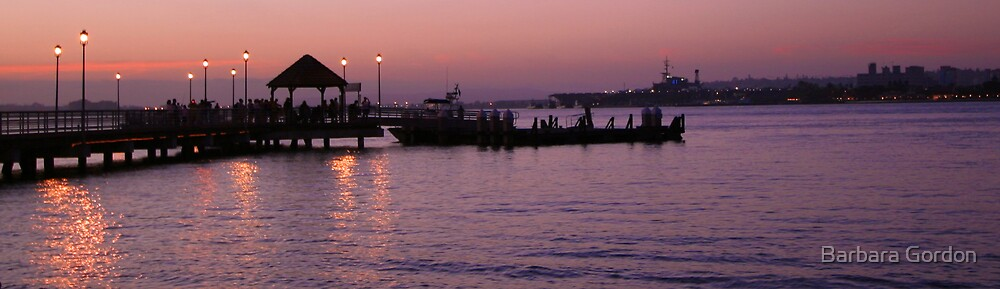 Ferry Pier Sunset by Barbara Gordon