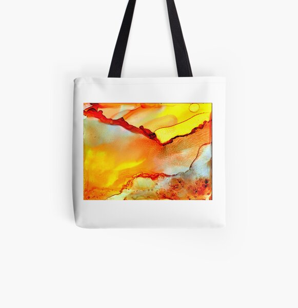 Golden Agate All Over Print Tote Bag