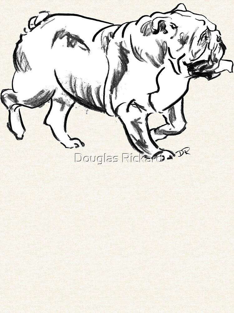 Bulldog Drawing by douglasrickard